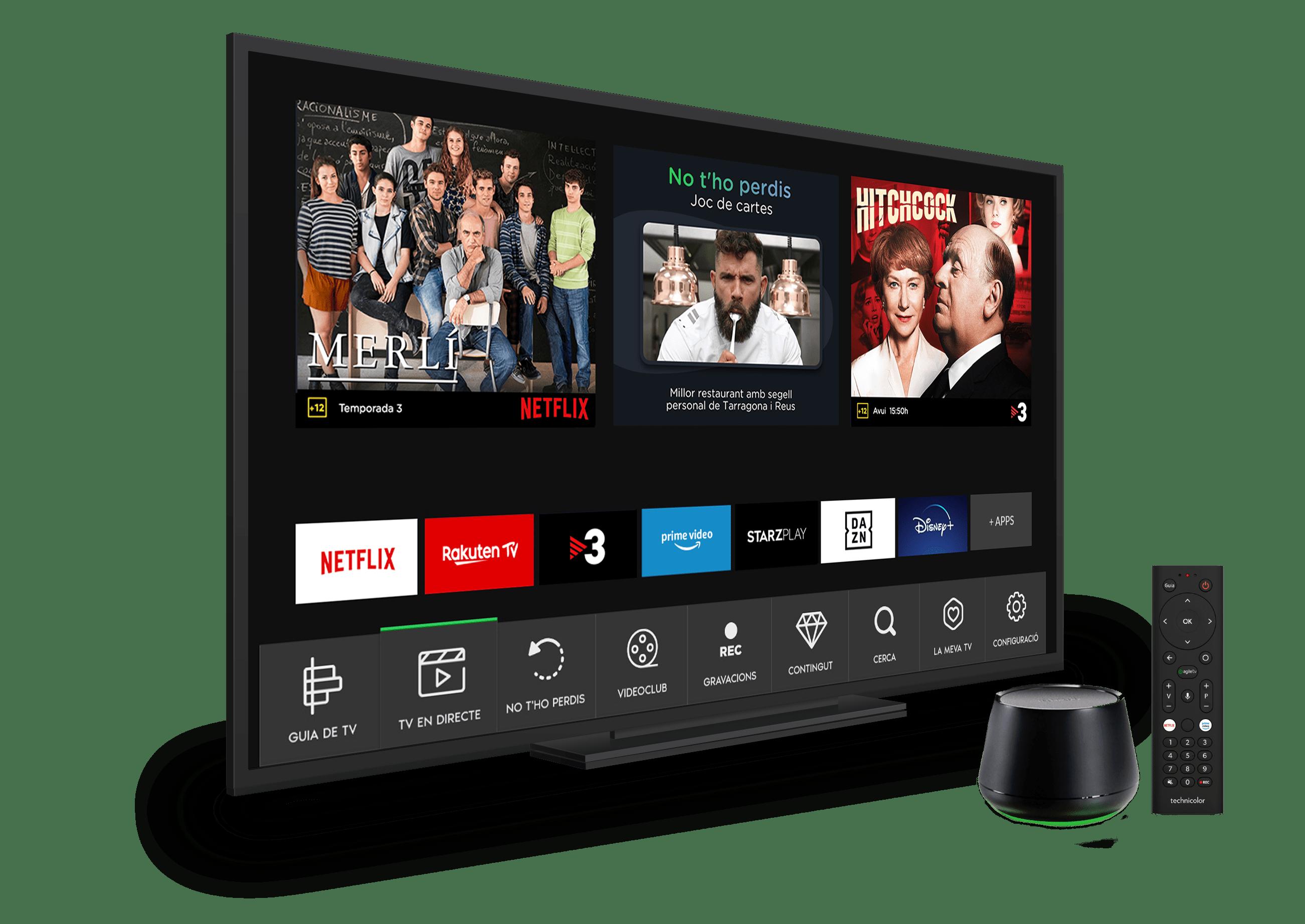 AgileTV-Parlem-TV+STB+Mando